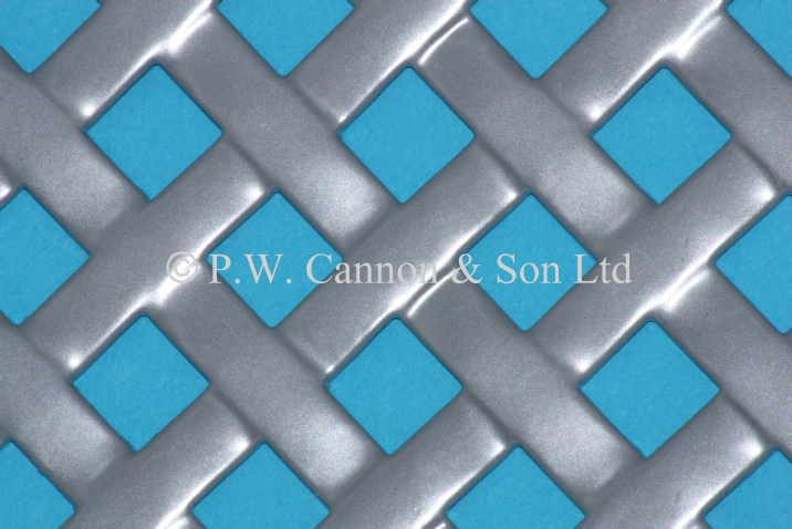 Woven Effect Powder Coated Metal Sheet - Grilles for use in radiator covers, cabinets and as screening panels